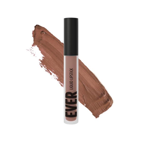 Huambo Brownish - EVER 03 - liquid lipstick we make-up - Swatch