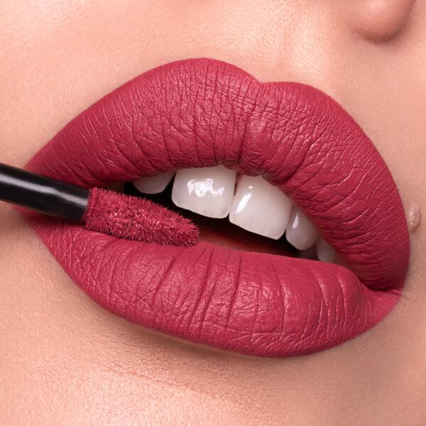 Asama Cherry - EVER 16 - liquid lipstick we make-up - Fair skin tone