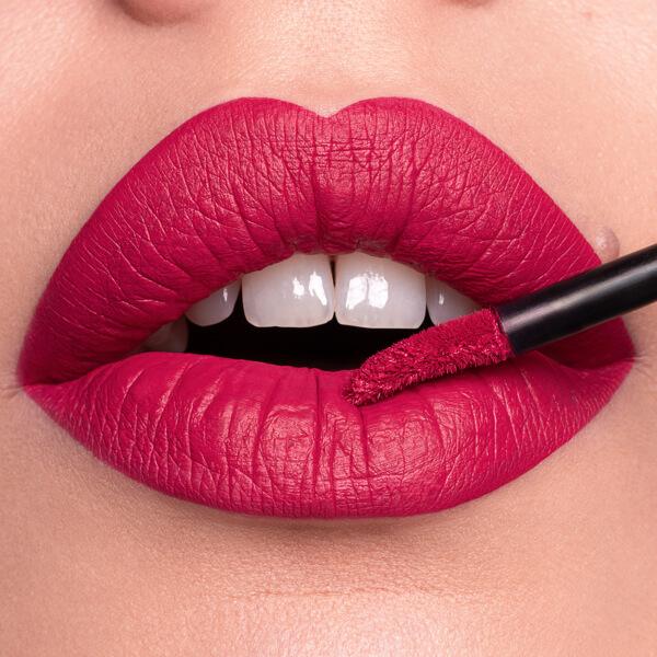 Vico Fuchsia - EVER 22 - liquid lipstick we make-up - Fair skin tone
