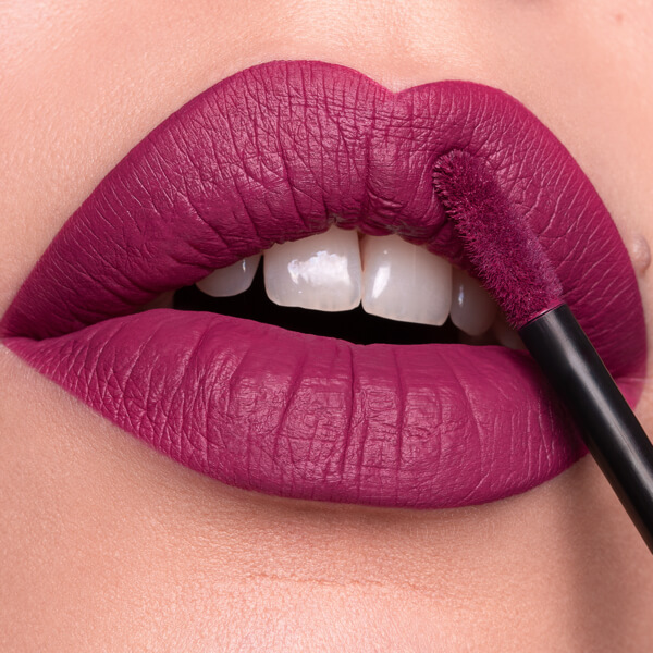 Stromboli Purple - EVER 23 - liquid lipstick we make-up - Fair skin tone