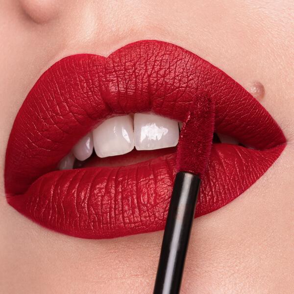 Etna Red - EVER 26 - liquid lipstick we make-up - Fair skin tone