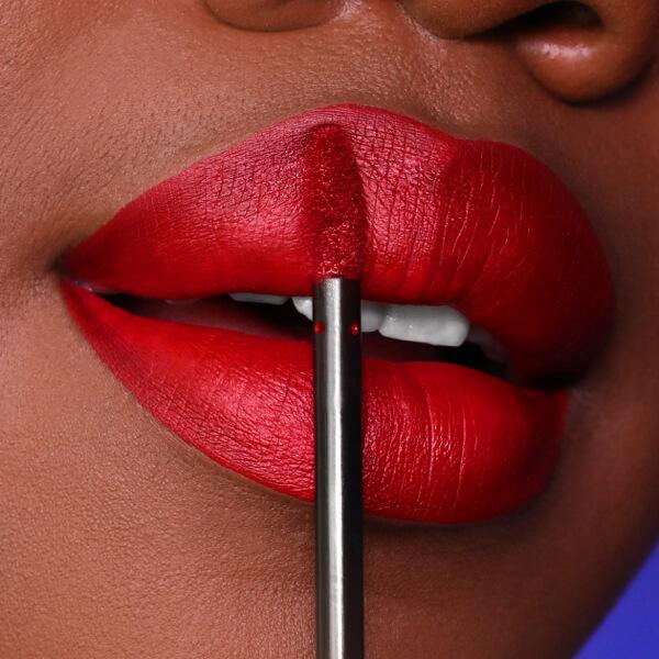 Etna Red - EVER 26 - liquid lipstick we make-up - Dark skin tone