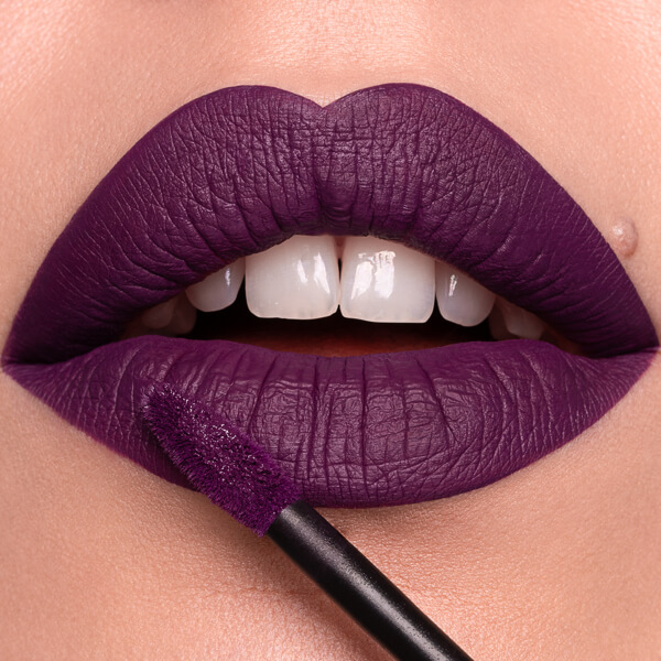 Mauna Loa Violet  - EVER 31 - liquid lipstick we make-up - Fair skin tone