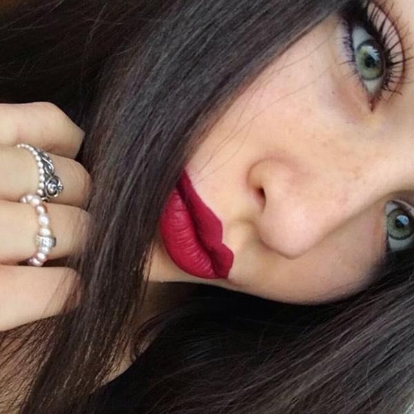 Katla Wine - EVER 34 - liquid lipstick we make-up - @christinamorlino