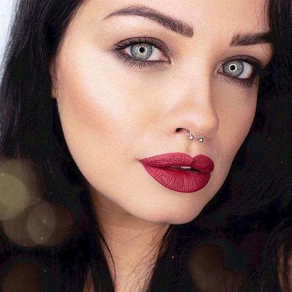 Katla Wine - EVER 34 - liquid lipstick we make-up - @verdebio