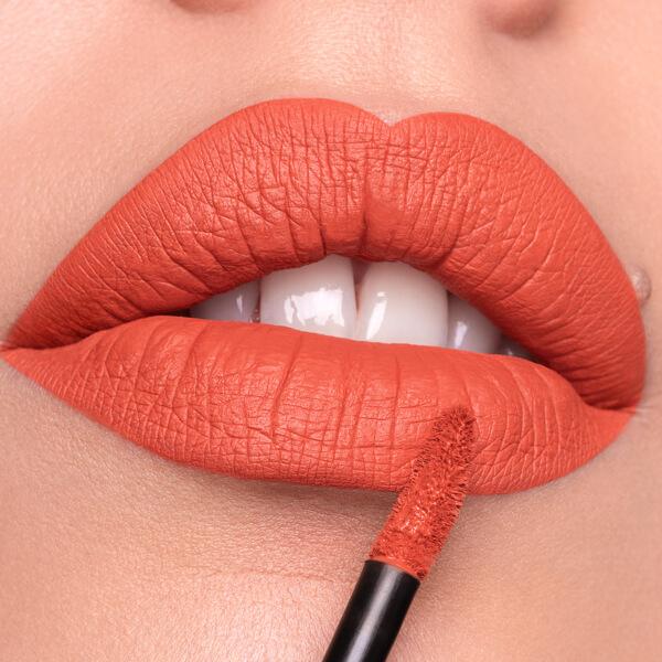 Barù Squash - EVER 38 - liquid lipstick we make-up - Fair skin tone