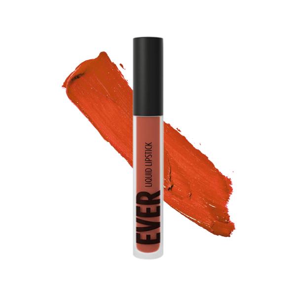Kilauea Ketchup - EVER 40 - liquid lipstick we make-up - Swatch