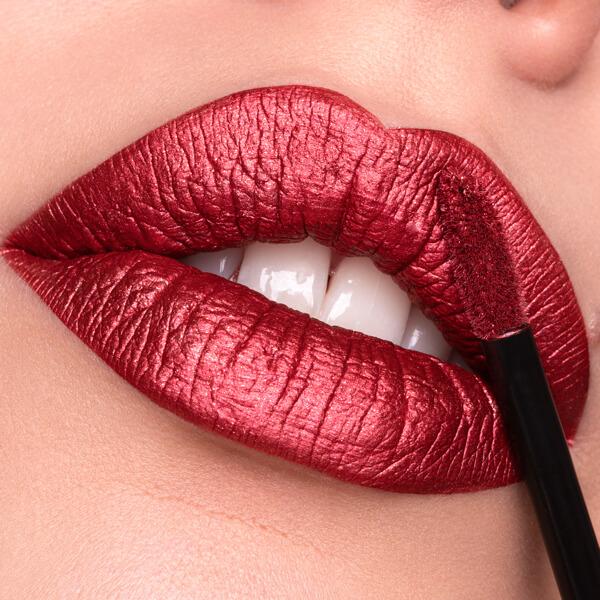 Tiger Red - EVER 64 - liquid lipstick we make-up - Fair skin tone