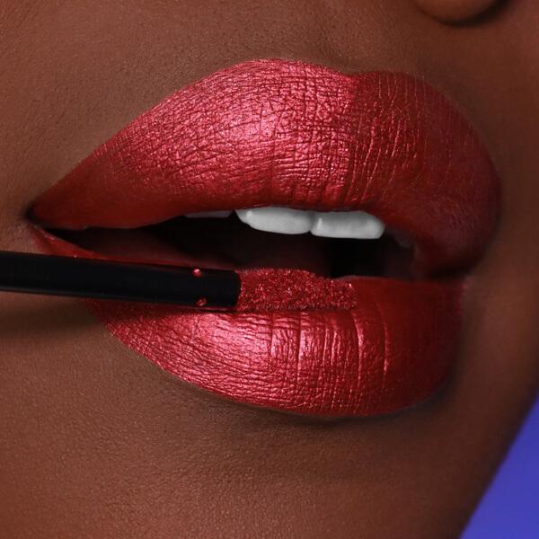 Tiger Red - EVER 64 - liquid lipstick we make-up - Dark skin tone