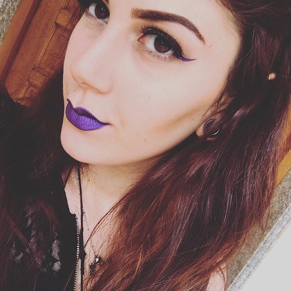 Loki Purple - EVER 66 - liquid lipstick we make-up - @paradigmb