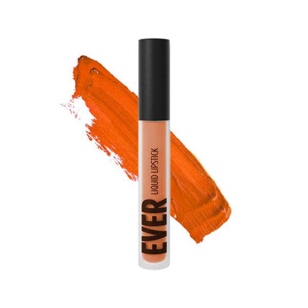 Inca Tangerine - EVER 84 - liquid lipstick we make-up - Swatch