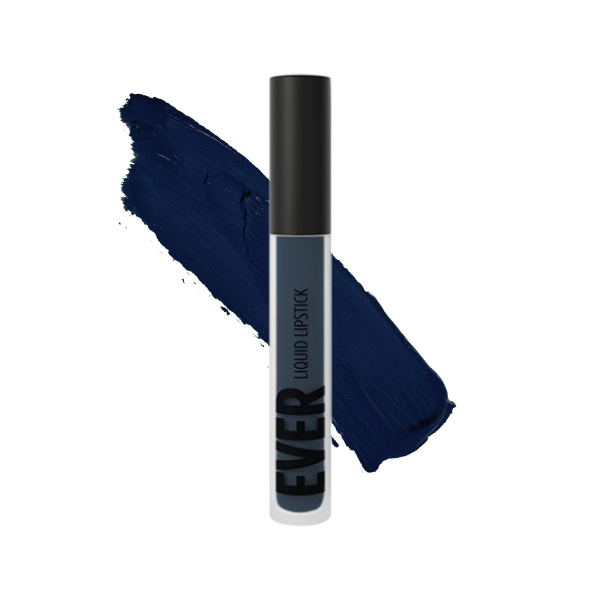 Pinatubo Deep Blue - EVER 89 - liquid lipstick we make-up - Swatch